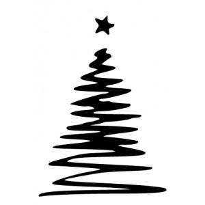 weihnachtsbaum mit stern hot and cool autoaufkleber. Black Bedroom Furniture Sets. Home Design Ideas