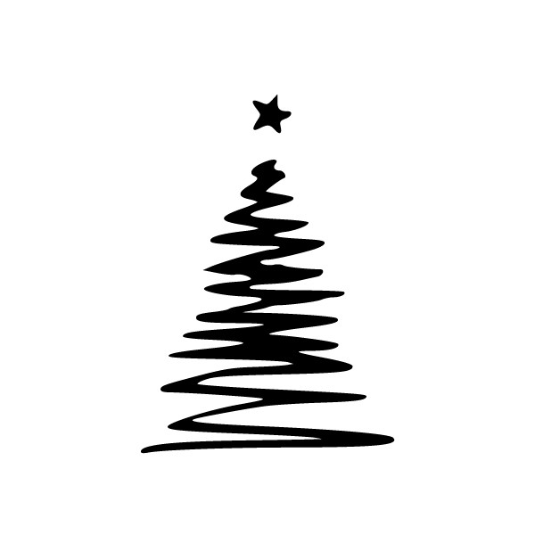 Weihnachtsbaum Schwarz Weiß.Weihnachtsbaum Mit Stern Hot And Cool Autoaufkleber