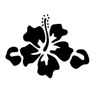 Aufkleber - Hibiskus-Blüte I