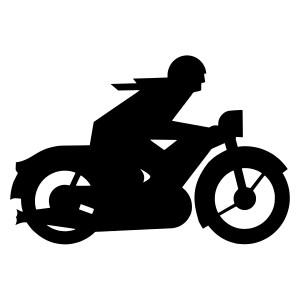 Aufkleber - Retro-Biker