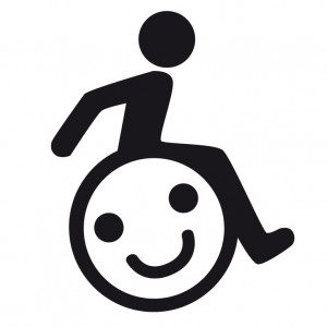 Aufkleber - Handicap Sticker mit Smiley