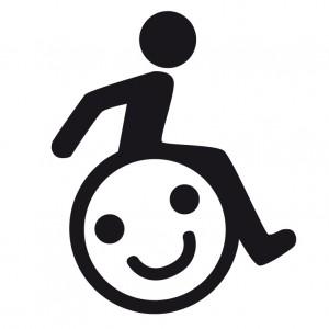 Aufkleber - Handicap Sticker mit Smiley