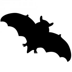 Aufkleber - Fledermaus
