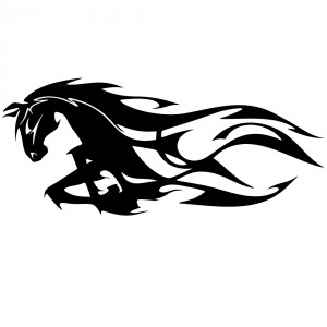 Aufkleber - Flaming Horse